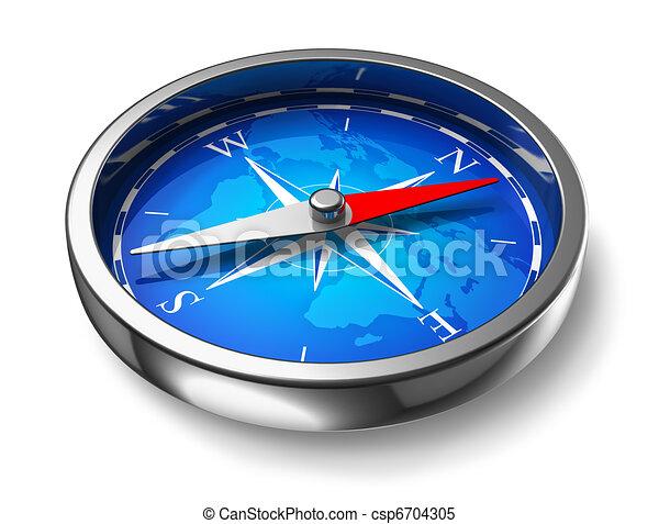 Blue metal compass - csp6704305