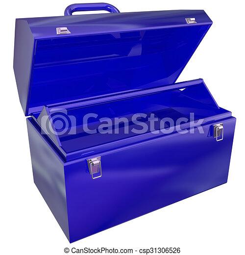 open toolbox clipart. blue metal open toolbox empty store tools project work csp31306526 clipart