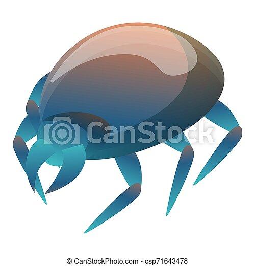 Blue mite icon, cartoon style - csp71643478