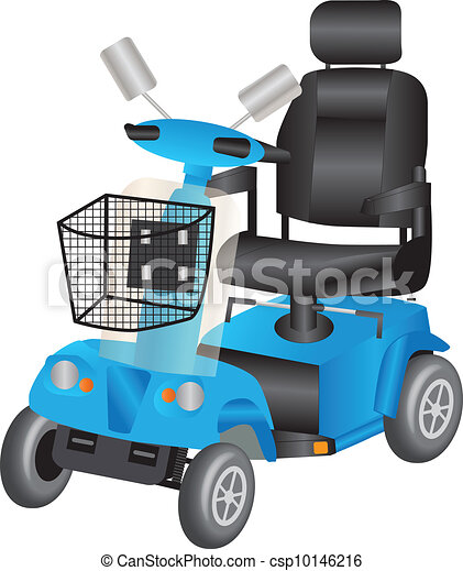 Blue Mobility Scooter - csp10146216