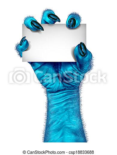 Blue Monster Hand - csp18833688
