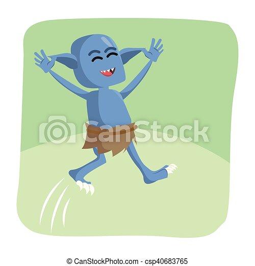 Paulinda 081184-6 Green Jumping Monster