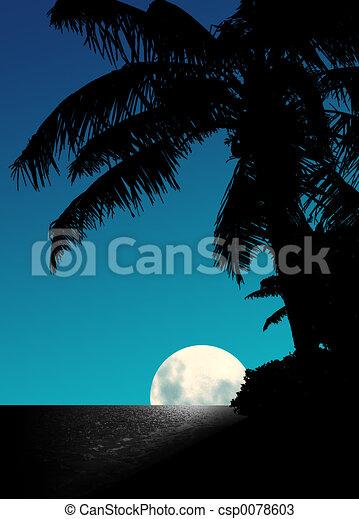 Blue Moon Rise - csp0078603