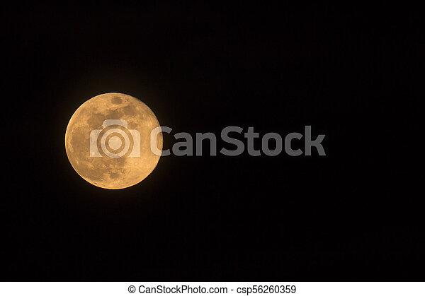 Blue Moon Rising Landscape Left - csp56260359