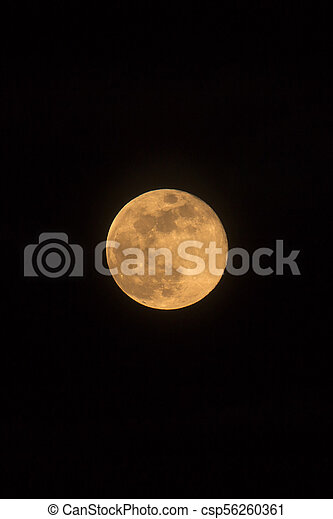 Blue Moon Rising Photo Dimensions Portrait - csp56260361