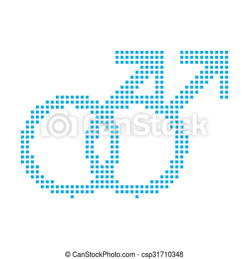 Blue Mosaic Icon Isolated on a White Background - Gay - csp31710348