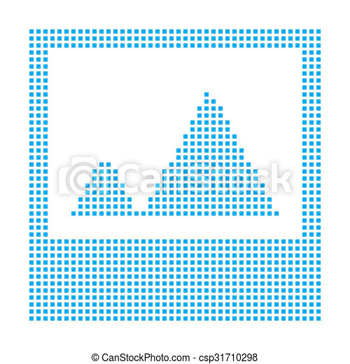 Blue Mosaic Icon Isolated on a White Background - Picture - csp31710298