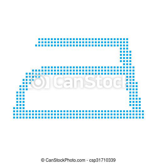 Blue Mosaic Icon Isolated on a White Background - Iron - csp31710339