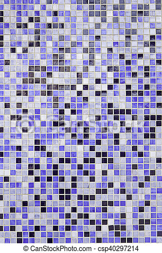 Blue mosaic pieces - csp40297214