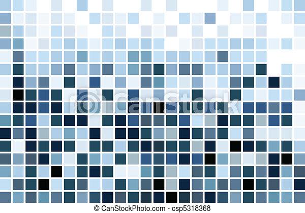 blue mosaic, wallpaper - csp5318368