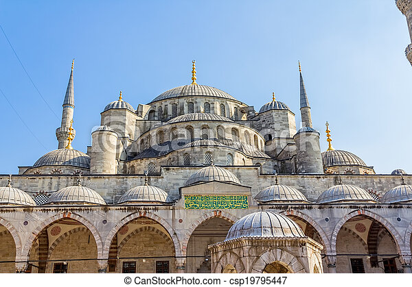 Blue mosque dome, Istanbul - csp19795447