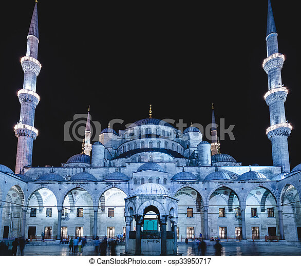 Blue Mosque in Istanbul - csp33950717