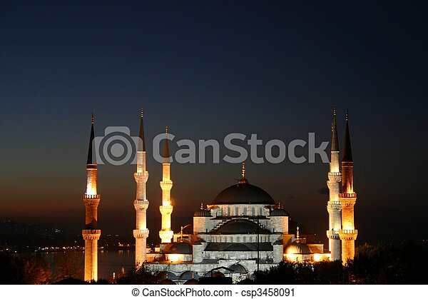 Blue Mosque in Istanbul - csp3458091