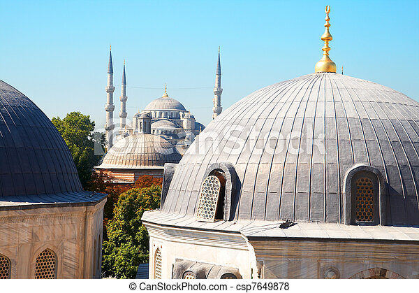 Blue Mosque in Istanbul - csp7649878