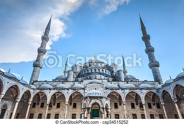 Blue Mosque in Istanbul - csp34515252