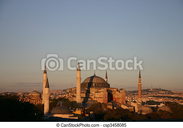 Blue Mosque in Istanbul - csp3458085