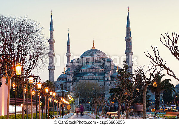 Blue Mosque in Istanbul - csp36686256
