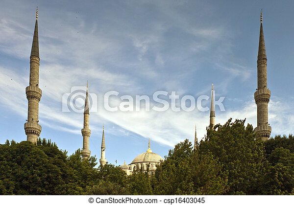 Blue mosque in Istanbul - csp16403045