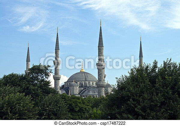 Blue mosque in Istanbul - csp17487222