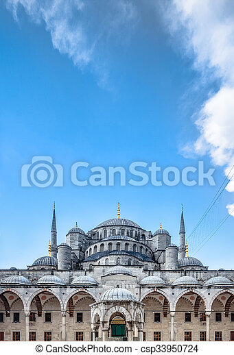 Blue Mosque in Istanbul - csp33950724