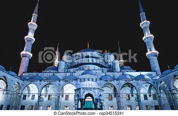 Blue Mosque in Istanbul - csp34515241