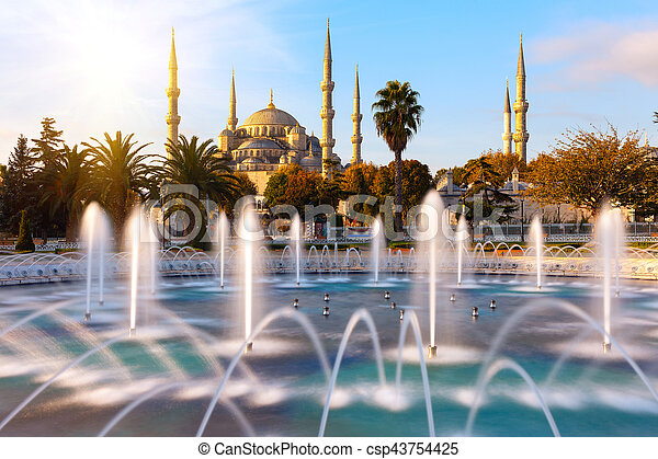 Blue Mosque in Istanbul. - csp43754425