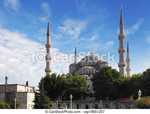 Blue mosque in Istanbul - csp18651207