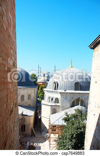 Blue Mosque in Istanbul - csp7649883