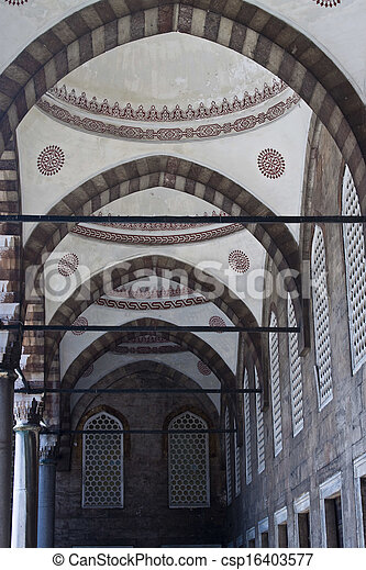 Blue mosque in Istanbul, Turkey - csp16403577