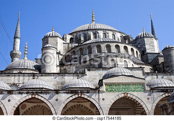 Blue mosque in Istanbul, Turkey - csp17544185