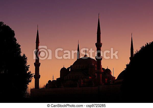 Blue Mosque in Istanbul, Turkey - csp9723285