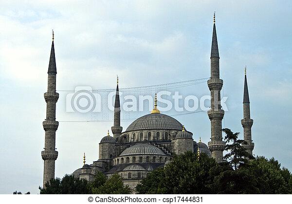 Blue mosque in Istanbul, Turkey - csp17444831