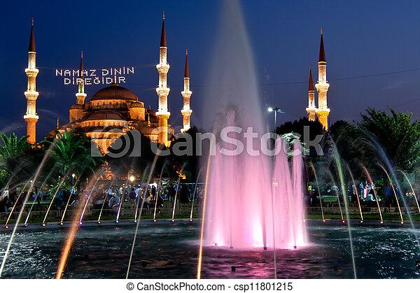 blue mosque - istanbul - csp11801215