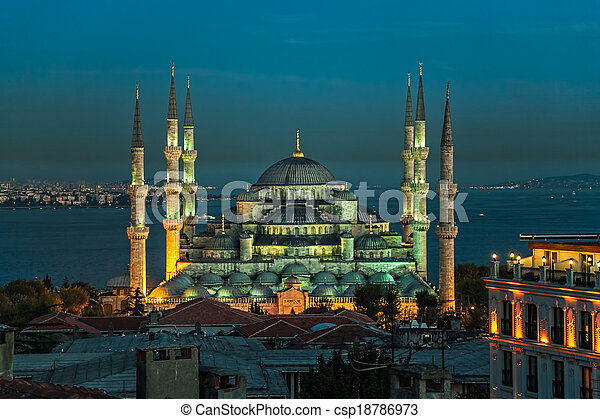 Blue mosque Istanbul - csp18786973