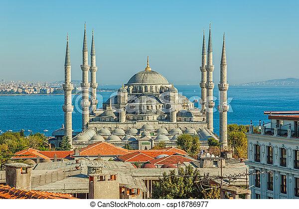 Blue mosque Istanbul - csp18786977