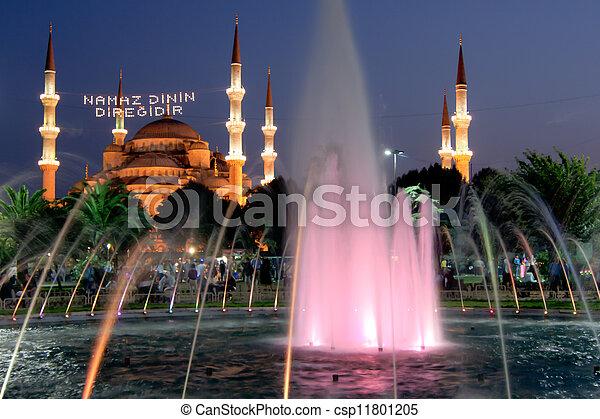 blue mosque - istanbul - csp11801205