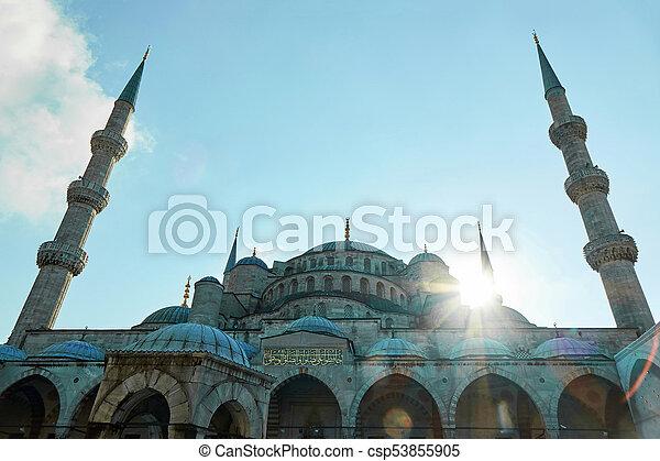 Blue Mosque Sultan Ahmet Cami in Istanbul Turkey - csp53855905