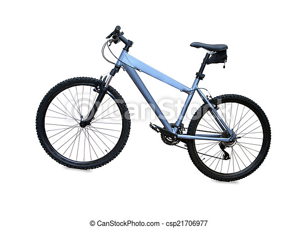 blue mountain bike isolated over white background - csp21706977