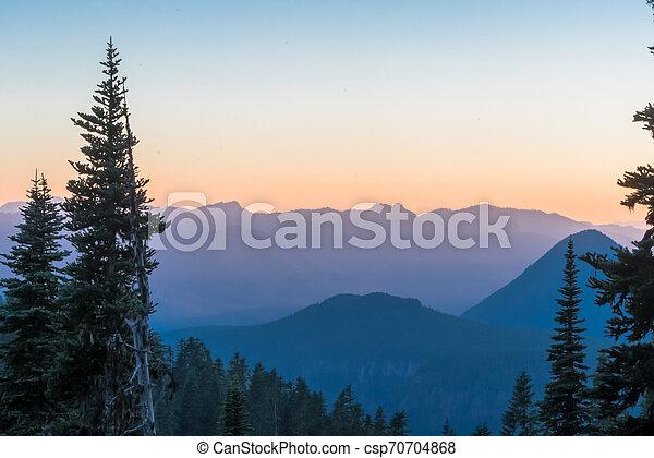 Blue Mountain Ridge at Sunset - csp70704868