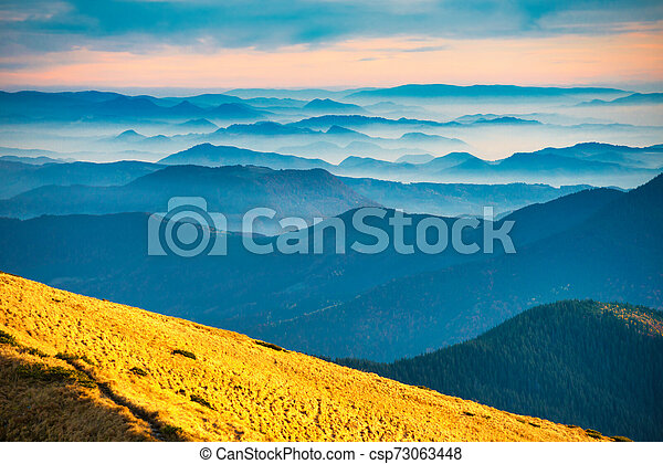 Blue mountains and hills - csp73063448