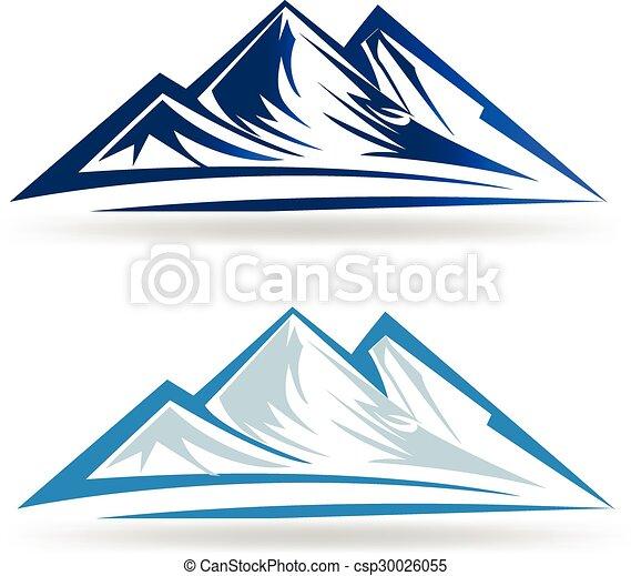 Blue mountains logo - csp30026055