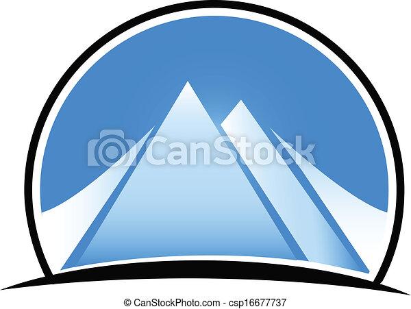 Blue mountains logo - csp16677737