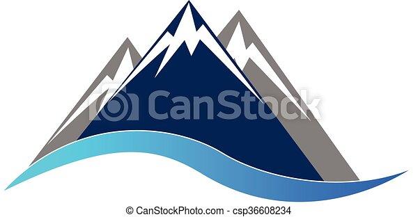 Blue mountains logo - csp36608234