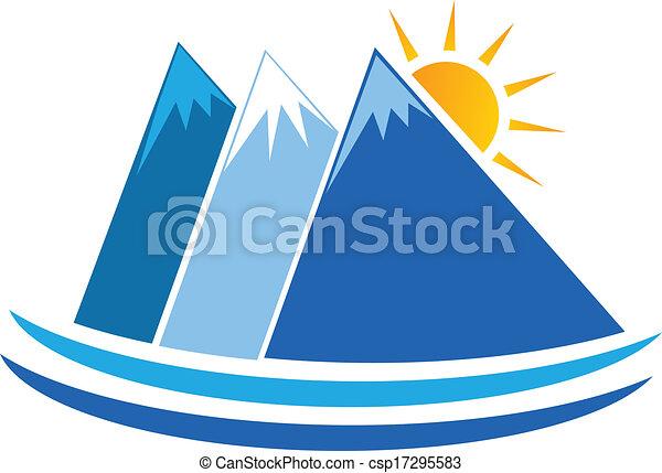 Blue mountains logo vector - csp17295583