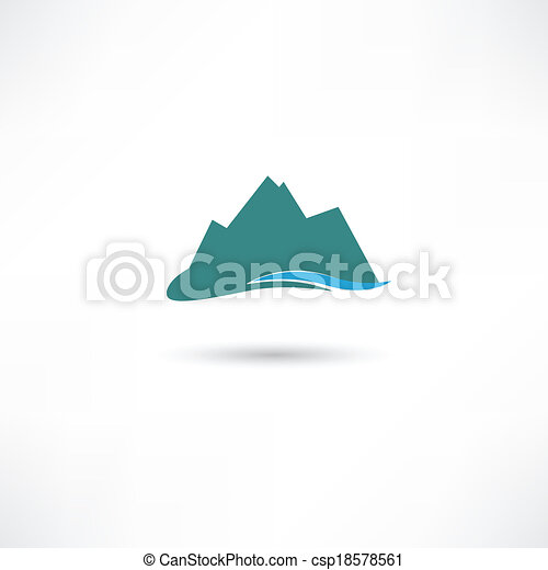 blue mountains symbol - csp18578561
