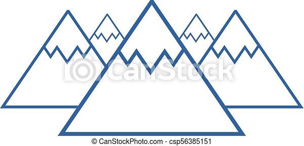 blue mountains symbol - csp56385151