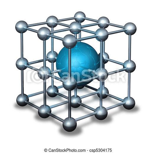 Blue nanoparticle atom - csp5304175