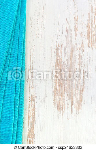 blue napkin on white background - csp24623382