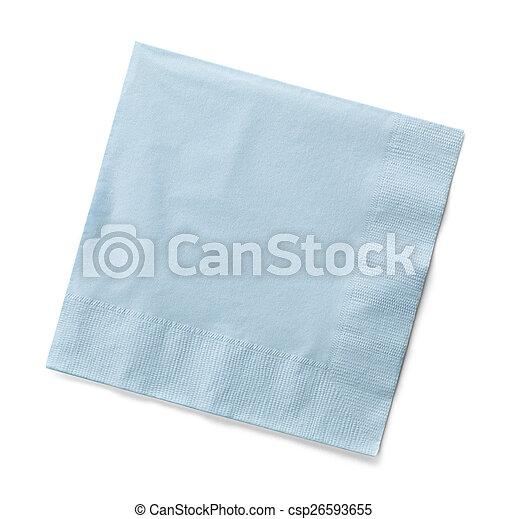 Blue Napkin - csp26593655