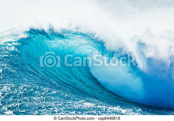 Blue Ocean Wave - csp8446818